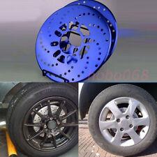 4PCS Blue Aluminum Universal Car Racing Disc Decorative Brake Rotor Cover Drum