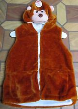 Bear Halloween Costume Push Brown and Interior Lined Child's Size XL NEW