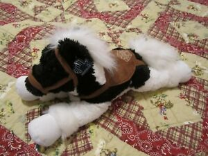 APPLAUSE HORSE PLUSH BLACK AND WHITE WITH SADDLE WITH HANG TAG!