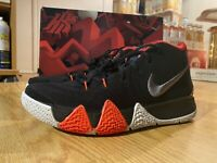 943806 005 NIKE KYRIE 4 THINK16 41 FOR THE AGES BLK RED BASKETBALL 10.5 MENS