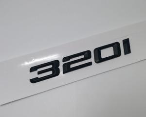"""For BMW 3 Series 320i Black """" 320 i """" Number Trunk Letters Emblem Badge Sticker"""