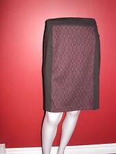 METAPHOR Women's Black/Oxford Ponte Knit Skirt - Size 10P - NWT