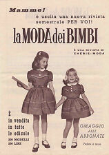 DEPLIANT PUBBLICITARIO CHERIE MODA + LA MODA DEI BIMBI ANNI '50 20-19