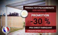 Pergola Aluminium Gris 7016 Toit Polycarbonate Opaque L5500XA3500 Adossée