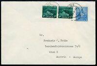 Kambodscha 1956 Indische Armeepost ohne Aufdruck FPO 745 nach Österreich / 34