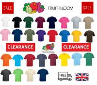 Fruit Of The Loom Cotton Plain Men's Womens Tee shirts T Shirt S-5XL NEW