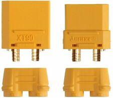 1 Paar XT90 Stecker & Buchse inkl. Kappen - Neu