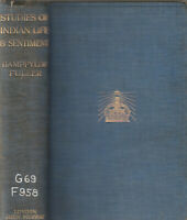 STUDIES OF INDIAN LIFE AND SENTIMENT BY SIR BAMPFYLDE FULLER, 1910, COLOR MAP