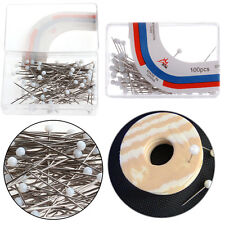 100Pcs Pearl Round Head Pins Sewing Corsage Straight Diy Dressmaking Decor Craft