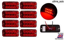 8 piezas 24v 8 LED Lateral Marcador Rojo LUCES FAROS PARA EL CARRO FIAT PEUGEOT