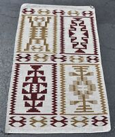 "Navajo Indian Rug - Raised Outline 4 in 1  36""x 58"" circa 1970"