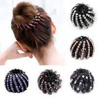 Fashion Women's Rhinestone Hairpin Ponytail Holder Hair Clip Jewelry Decor Gift