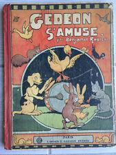 """Livre ancien """"Gédéon s'amuse"""" par Benjamin rabier 1929"""