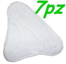 SET 7 PANNI MICROFIBRA PER SCOPA A VAPORE X5 H2O MOP H20  CON VELCRO PAVIMENTO