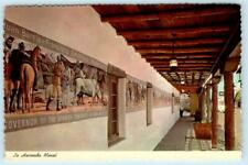 "Old Town ALBUQUERQUE, New Mexico NM ~ Mural HACIENDA DINING ROOM 4""x6""Postcard"