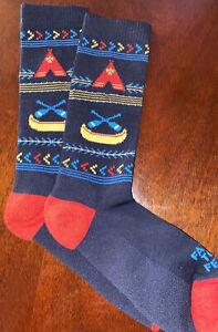 NEW Farm To Feet FRANKLIN LW Socks Ladies Crew Medium Fits Shoe Sz 7-9.5
