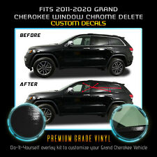 Fit 11-20 Grand Cherokee Window Trim Chrome Delete Blackout Kit - Glossy Black