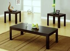 Coffee Table 2 End Tables Side 3 Piece Set Modern Espresso Furniture Living Room