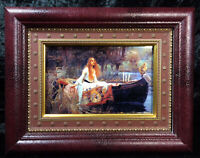 The Lady of Shalott by John William Art Framed Print  Waterhouse 1888 Tennyson