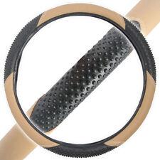 Massage Grip Steering Wheel Cover for Car SUV Truck Anti Slip Grip Beige