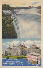 Home Of National Biscuit Shredded Wheat, Niagara Falls, NY, Linen Postcard