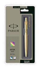 Parker Jotter Gold Metal GT Ball Point Pen Gold Trim & Body Blue Ink, Fine Nib