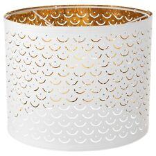 "IKEA NYMÖ NYMO Large Table Floor Pendant Lamp Perforated Shade White Brass 13"""