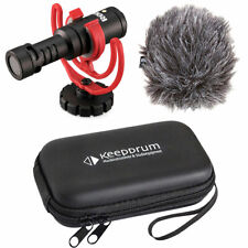 Rode Videomicro kompaktes Kamera-Richtmikrofon + keepdrum Soft-Case