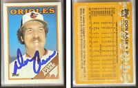 Don Aase Signed 1988 Topps #467 Card Baltimore Orioles Auto Autograph