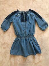 Ralph Lauren Girls Cotton Denim Dress -Size 10