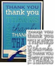 THANK YOU BACKGROUND words die POPPYSTAMPS metal dies 1031 phrases thanks