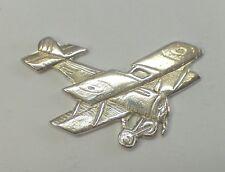 BIPLANO: Spilla da giacca ( pins ) in ARGENTO 925 - aeroplano d'epoca -