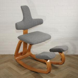 Stokke Varier Thatsit  ergonomic kneeling chair New Upholstery 100% Wool Kvadrat