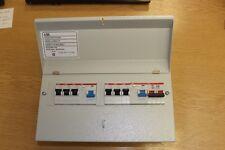 8 Way ABB 17A edizione all 'em endamento n. 3 metallo consumatore unità 6 MCB, 2 RCB e isolante