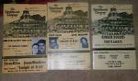3 Vintage Theater Programs From The Elitch Theater Co. 83rd & 84th Ann. Seasons