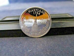 2000-S SILVER Quarter MARYLAND Deep Cameo Mirror Proof Upper Grading Range