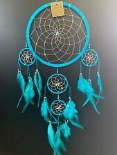 Nylon White Rainbow Beads 22cm Web Dream Catcher 73cm Total Length