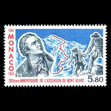 Monaco 1986 - First Ascent of Mont Blanc by Doctor Paccard - Sc 1558 MNH