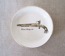 Enoch Wedgwood Coaster Trinket Coin Pin Ring Dish CRAZING Flintlock Pistol 4""