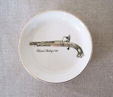 "Enoch Wedgwood Coaster Trinket Coin Pin Ring Dish CRAZING Flintlock Pistol 4"""