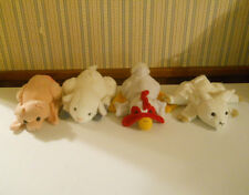 Lot of 4 Farm Hand Puppets Rooster Goat Pig & Lamb plush stuffed            OY