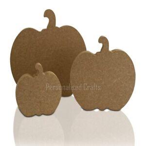 Free Standing MDF Pumpkin Shape Halloween Crafts 200mm, 150mm ,100mm