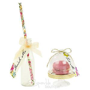 Alice in Wonderland EAT & DRINK ME SET-Mini Cake Domes, Bottles/Straws-Tea Party