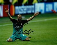 Lucas Moura Signed 10X8 Photo SPURS Tottenham Hotspur AFTAL COA (B)