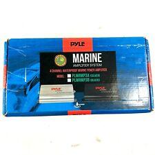 Pyle PLMRMP3B 4 Channel 800 Watt Waterproof Micro Marine Amplifier