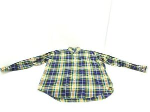 Ralph Lauren Shirt Green Blue Yellow Plaid Blake Long Sleeve Button Down Mens L