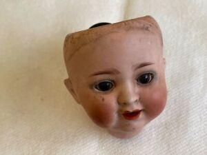 Antiker Burggrub Bisquit Porzellan Puppekopf 169 4/0 mit Schlafaugen