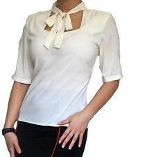 NEU Bluse Shirt Tops Chiffon Kurzärmlig Damen Oberteil Größe 10 12 14 16 18 20