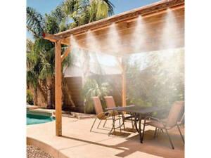 Sprühnebel Terrasse Abkühlung Wassernebel Nebelkühlung Nebelsystem Sprühsystem