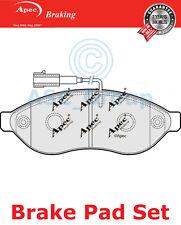 Apec Vorne Brems Scheiben Satz OE Qualität Ersatzteil mit Blinker PAD1567